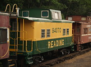 Old Train Photos - Old Reading RR Car - Jim Thorpe PA by Anna Lisa Yoder