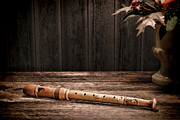 Flute Prints - Old Recorder Print by Olivier Le Queinec