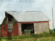 Barn Digital Art - Old Red Barn by Cassie Peters