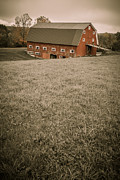 Red Barn Prints - Old Red Barn Print by Edward Fielding