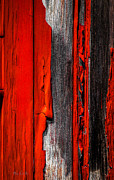 Gray Art - Old Red Barn Four by Bob Orsillo