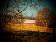 Old Barns Metal Prints - Old Red Barn Metal Print by Joyce  Kimble Smith
