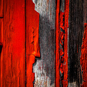 Textures Prints - Old Red Barn One Print by Bob Orsillo