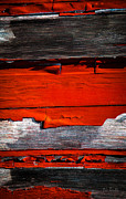 Weathered Prints - Old Red Barn Three Print by Bob Orsillo