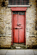 High Street Photos - Old Red Door by Heather Applegate