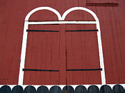 Red Doors Photos - Old Red Kutztown Barn Doors by Anna Lisa Yoder