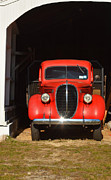 Adspice Studios Framed Prints - Old Red Truck Framed Print by Adspice Studios