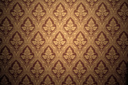 Pattern Book Prints - Old retro wallpaper in sepia Print by Michal Bednarek