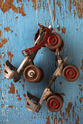 Skate Photo Metal Prints - Old roller skates Metal Print by Garry Gay