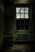 Haunted House Acrylic Prints - Old room - Abandoned Asylum - The presence outside Acrylic Print by Gary Heller
