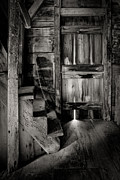 Old Room - Rustic - Inside The Windmill Print by Gary Heller