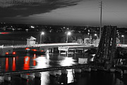 Wibada Photo Prints - Old Roosevelt Bridge and Comet Pan-STARRS Print by Lynda Dawson-Youngclaus