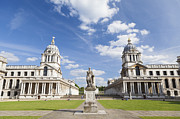 Naval College Framed Prints - Old royal naval college in Greenwich Framed Print by Stefano Baldini