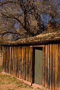 Old Rustic Cabin Grafton Ghost Town Rockville Utah Print by Robert Ford