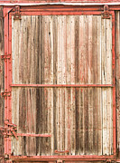 Train Car Prints - Old Rustic Railroad Train Car Door Print by James Bo Insogna
