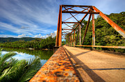 Fototrav Print - Old rusty bridge in...
