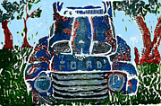 Jame Hayes Art - Old Rusty Ford by Jame Hayes