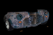 Lovable Digital Art - Old Rusty Junk Car In Vivid Colors by Gunter Nezhoda