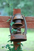 Oil Lamp Photos - Old Rusty Lantern I by GD Rankin