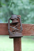 Oil Lamp Photos - Old Rusty Lantern II by GD Rankin