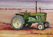 Old Tractors Paintings - Old Rusty by Lynnette Ruder