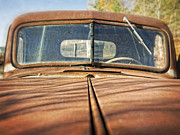 Rusty Truck Prints - Old Rusty Pickup Truck Print by Edward Fielding