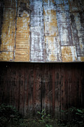 Decay Prints - Old Rusty Tin Roof Barn Print by Edward Fielding