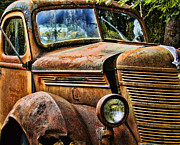Ron Roberts Photography Posters - Old rusty Truck Poster by Ron Roberts