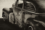 Rusty Old Cars Posters - Old Rusty  Poster by Wilma  Birdwell