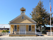 Old School House Photo Prints - Old Sacramento California Schoolhouse 5D25541 Print by Wingsdomain Art and Photography