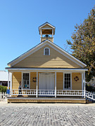 Old Sacramento California Schoolhouse 5d25543 Print by Wingsdomain Art and Photography