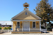 Schoolhouses Framed Prints - Old Sacramento California Schoolhouse 5D25544 Framed Print by Wingsdomain Art and Photography