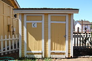 Old Schoolhouses Prints - Old Sacramento California Schoolhouse Outhouse 5D25549 Print by Wingsdomain Art and Photography