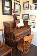 Old School Houses Photo Metal Prints - Old Sacramento California Schoolhouse Piano 5D25783 Metal Print by Wingsdomain Art and Photography