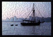 Transportation Tapestries - Textiles Metal Prints - Old Sailor Metal Print by Jean Baardsen