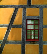 Glazing Framed Prints - Old Salem Window Twenty Framed Print by Randall Weidner