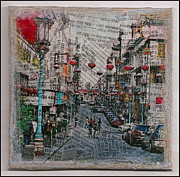 Old San Francisco China Town Print by Ruby Cross