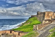 San Juan Bautista Framed Prints - Old San Jaun Puerto Rico Fort In HDR Framed Print by Willie Harper