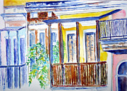 San Juan Paintings - Old San Juan Balconies by Patricia Beebe