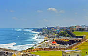 Cemeteries Photos - Old San Juan Coastline 2 by Stephen Anderson
