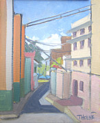 Old San Juan Painting Metal Prints - Old San Juan Metal Print by Marcus Thorne