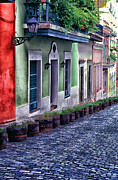 Blue Bricks Prints - Old San Juan Puerto Rico Print by Thomas R Fletcher