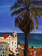 Church Prints Paintings - Old San Juan Ruerto Rico  by Impressionism Modern and Contemporary Art  By Gregory A Page