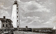 Saybrook Framed Prints - Old Saybrook Lighthouse 1954 Framed Print by Skip Willits