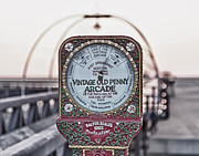 Kilogram Prints - Old scales on Southport pier Print by Steve Heap