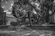 Horse And Wagon Photos - Old Scene-Baker Wagon by Darcy Michaelchuk