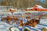 Old Farm Equipment Framed Prints - Old School Framed Print by Bill  Wakeley