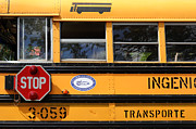 Stop Sign Photos - Old School Bus 2 by James Brunker
