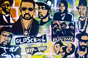 Stencil Art Paintings - Old School Hip Hop 2 by Tony B Conscious