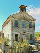 Old West Ghost Towns Photos - Old School House Bannack Ghost Town Montana by Jennie Marie Schell